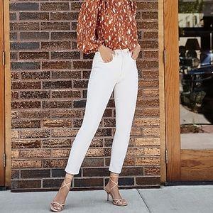 Express Cream Slim jeans super soft Super High Rise